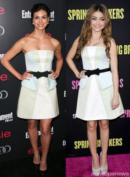 Fashion battle: Морена Баккарин и  Сара Хайланд