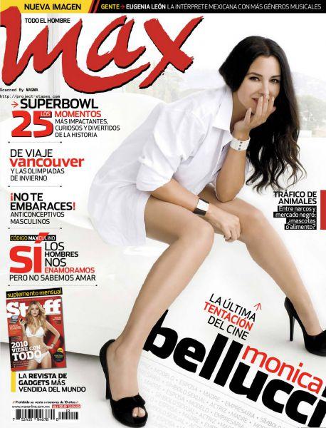 Моника Беллуччи в журнале Max. Февраль 2010