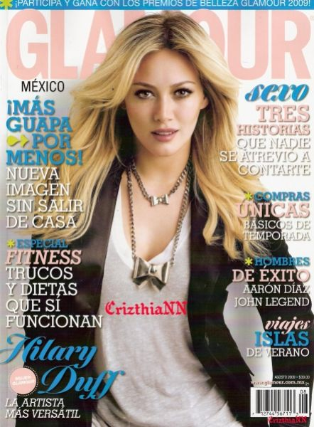 Хилари Дафф в журнале Glamour Mexico.  Aвгуст 2009