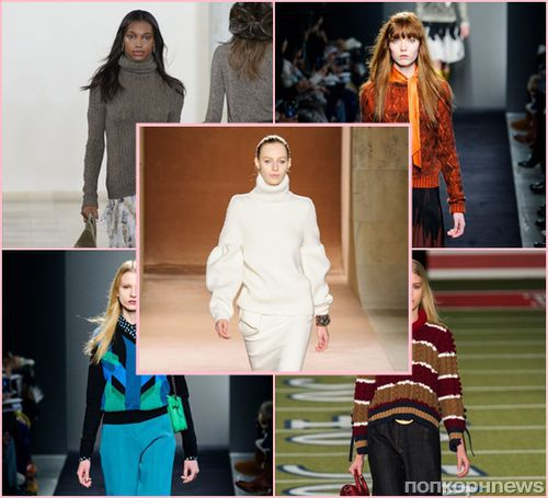 Модные женские свитера осень-зима 2015-2016: фото