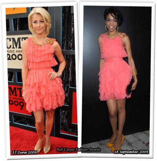 Розовое платье под розовые туфли