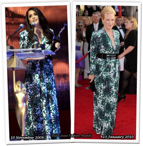 Fashion battle: Сальма Хайек и Мерил Стрип