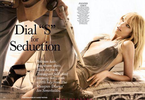 Кэндис Свэйнпоул соблазняет Йена Сомерхалдера в журнале Allure. Сентябрь 2011