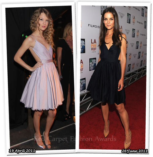 Fashion Battle: Тэйлор Свифт и Кэти Холмс