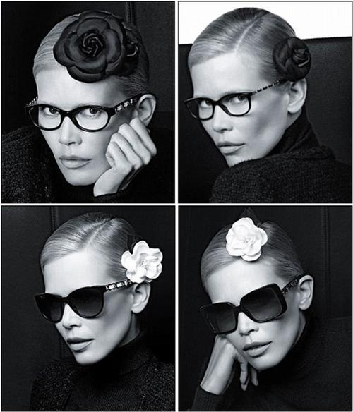 Клаудиа Шиффер в рекламной кампании очков Chanel