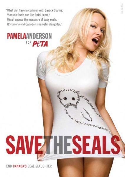 Памела Андерсон спасает морских котиков