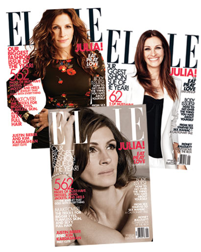 Джулия Робертс в журнале US Elle. Сентябрь 2010