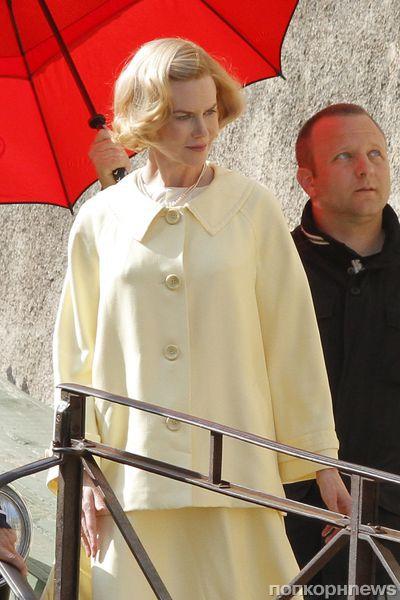 """Николь Кидман на съемках фильма """"Грэйс из Монако"""""""