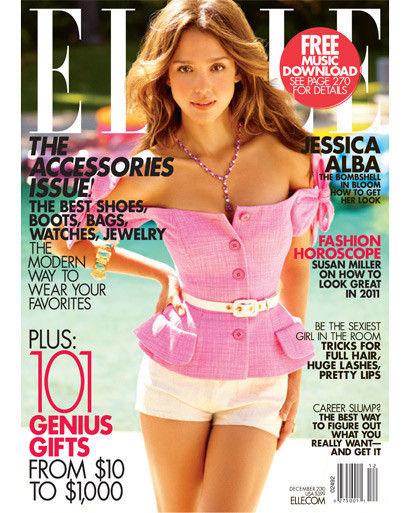 Джессика Альба в журнале Elle US. Декабрь 2010