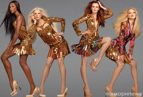 Наоми Кэмпбелл и другие в рекламной кампании Roberto Cavalli. Весна / лето 2012