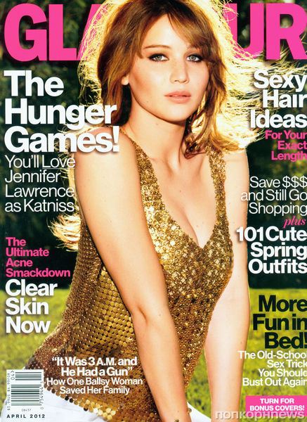 Дженнифер Лоуренс в журналах Glamour и Glamour Великобритания. Апрель 2012