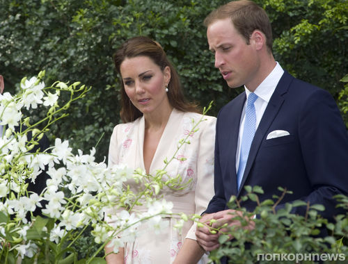 Кейт Миддлтон и принц Уильям в Сингапуре