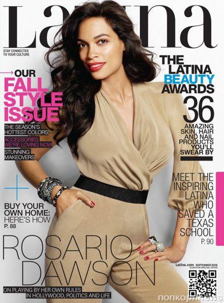 Розарио Доусон в журнале Latina. Сентябрь 2012