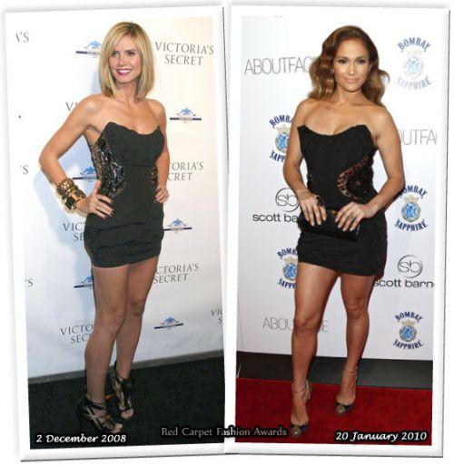Fashion battle: Хайди Клум и Дженнифер Лопес