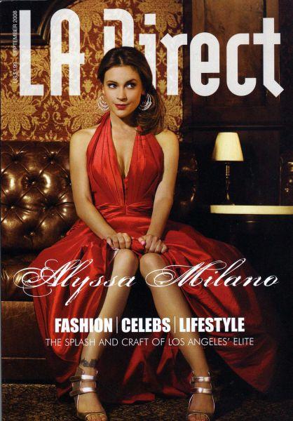 Алиса Милано в журнале LA Direct. Сентябрь 2008