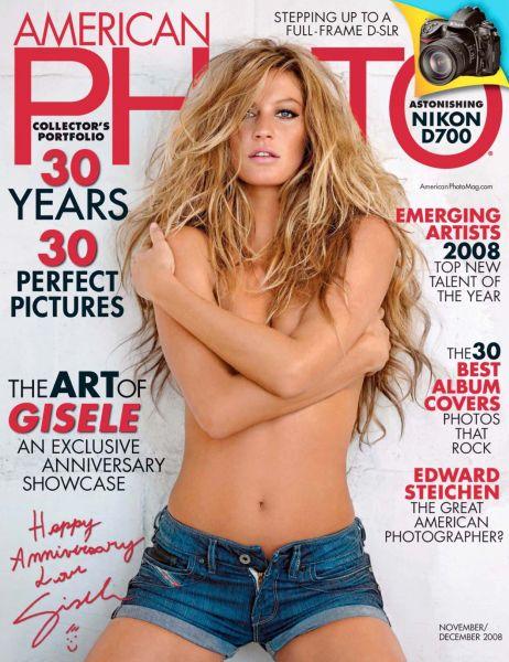 Жизель Бундхен в журнале American Photo. Ноябрь – Декабрь 2008