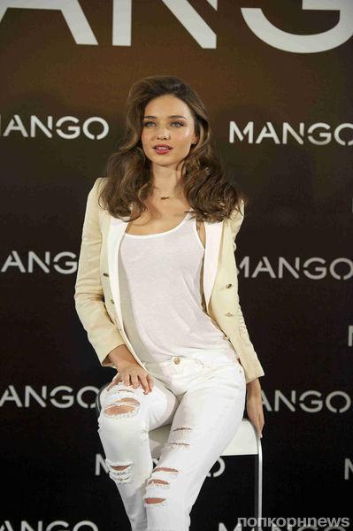 Миранда Керр на фотоколле Mango в Мадриде