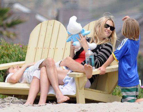 Кейт Хадсон и Мэтт Беллами: отдых на пляже в Малибу
