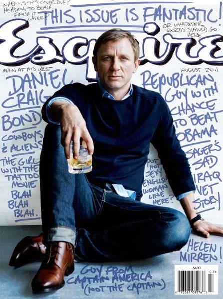 Дэниел Крэйг в журнале Esquire. Август 2011