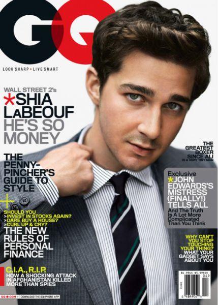 Шайа Лабаф в журнале GQ. Апрель 2010