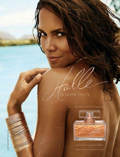 Рекламные фото для нового парфюма Халли Берри