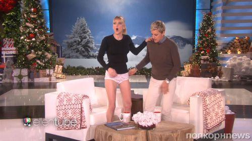 Видео: Анна Фэрис потеряла юбку в прямом эфире