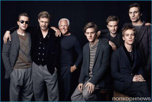 Джорджо Армани снялся с молодыми российскими актерами для GQ Russia