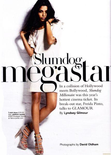 Фрида Пинто в журнале Glamour. Великобритания. Июнь 2009