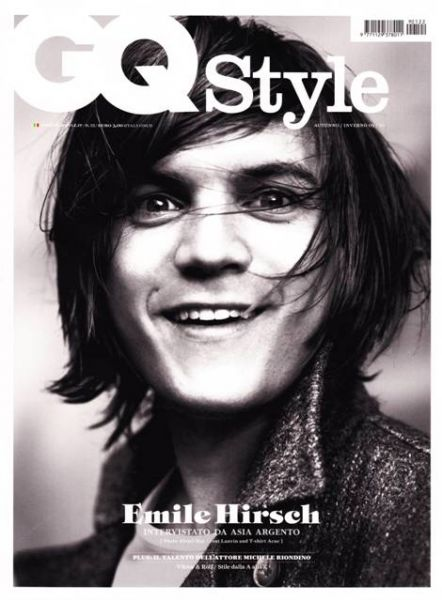 Эмиль Хирш в журнале GQ Style. Италия. Осень / Зима 2010