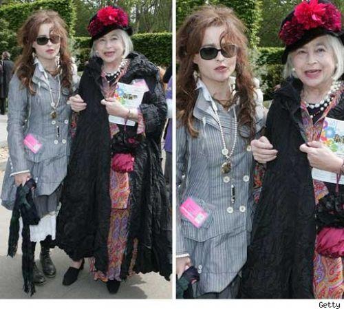 Хелена Бонэм Картер с мамой
