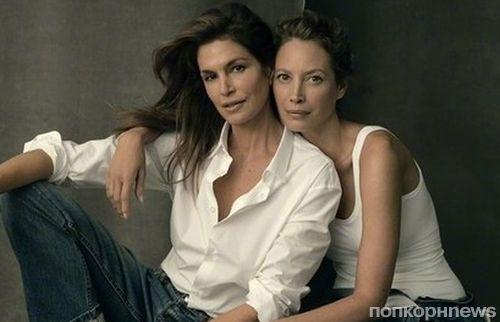 Линда Евангелиста, Синди Кроуфорд, Кристи Тарлингтон и другие легенды в фотосете к юбилею Vogue