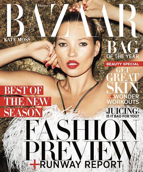 Кейт Мосс в журнале Harper's Bazaar. Июнь / июль 2012