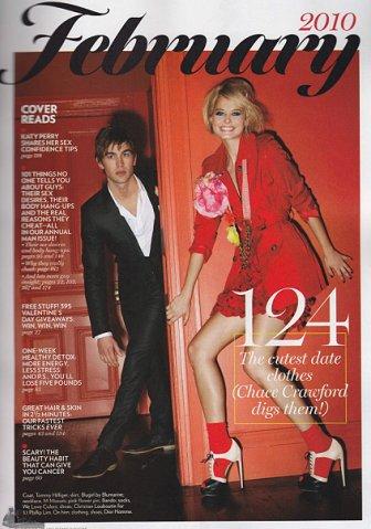Чейс Кроуфорд в журнале Glamour. Февраль 2010