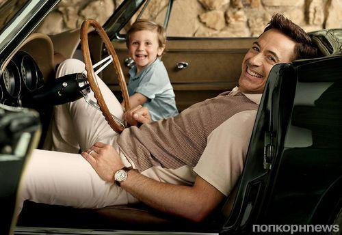Роберт Дауни младший со своим сыном в журнале Vanity Fair. Октябрь 2014