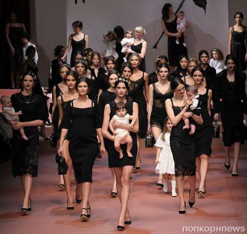 Модный показ новой коллекции Dolce & Gabbana. Осени / зима 2015-2016