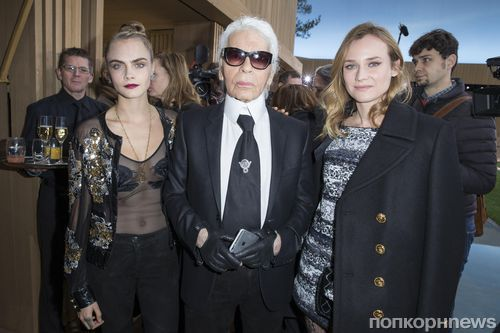 Звезды на модном показе Chanel в Париже