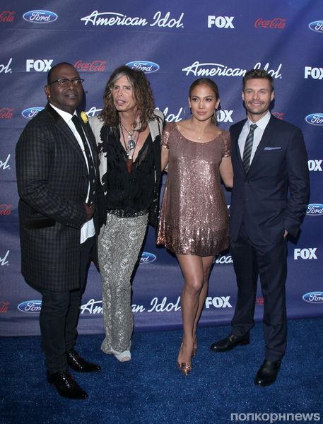 "Дженнифер Лопес на вечеринке ""American Idol"""