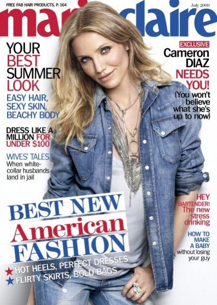 Кэмерон Диаз в журнале Marie Claire. Июль 2009