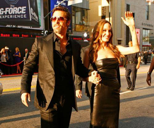 """Анджелина Джоли и Брэд Питт на премьере """"Бесславных ублюдков"""" в Лос-Анджелесе"""