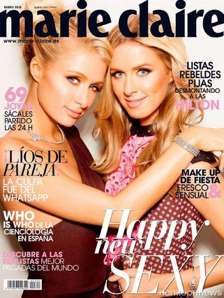 Сестры Хилтон в журнале Marie Claire. Испания. Январь 2013
