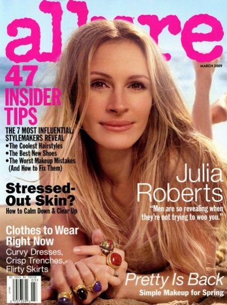 Джулия Робертс в журнале Allure. Март 2009