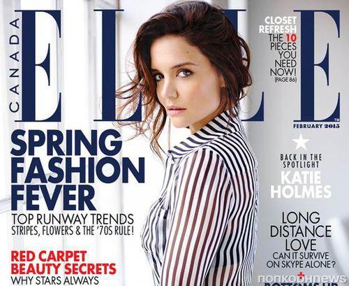 Кэти Холмс в журнале Elle Канада. Февраль 2015
