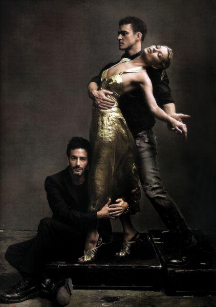 Джастин Тимберлейк, Кейт Мосс и Марк Джейкобс для Vogue. Май 2009