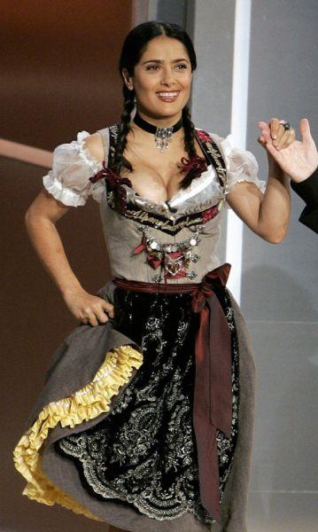 Сальма Хаейк на немецком ток-шоу