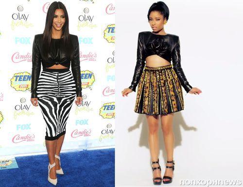 Fashion battle: Ким Кардашян и Ники Минаж