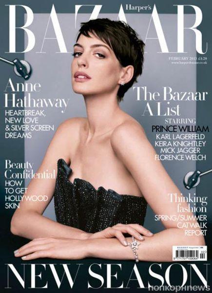Энн Хэтэуэй в журнале Harper's Bazaar Великобритания. Февраль 2013