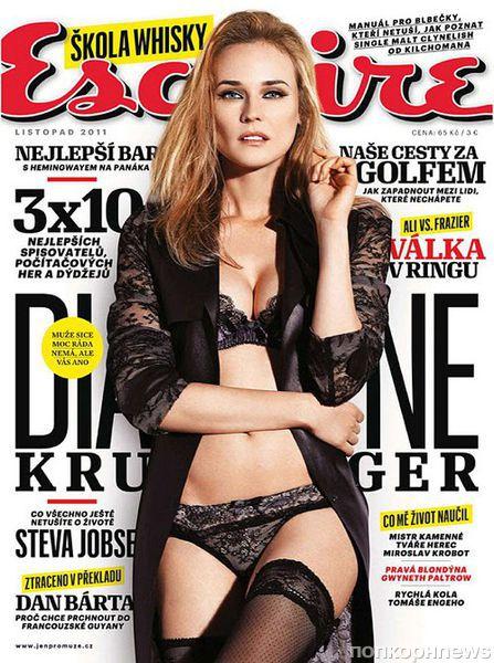 Дайан Крюгер в журнале Esquire Чехия. Декабрь 2011