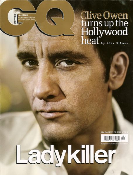 Клайв Оуэн в журнале GQ UK. Апрель 2009