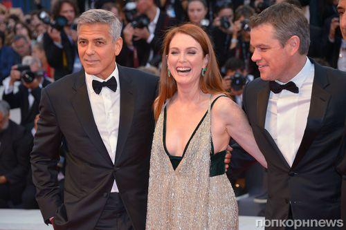 Мэтт Дэймон, Джордж Клуни, Джулианна Мур и другие звезды на красной дорожке Венецианского кинофестиваля