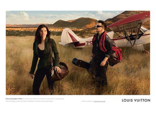 Лидер U2 снялся в рекламе LOUIS VUITTON'S вместе с женой